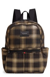State Bags Kane Metallic Plaid Backpack