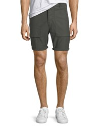 J Brand Men's Kontact Military Inspired Twill Shorts Green