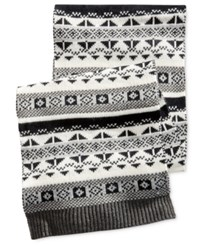 Club Room Men's Fair Isle Scarf Only At Macy's Tonal