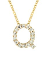 Bony Levy Women's Pave Diamond Initial Pendant Necklace Nordstrom Exclusive Yellow Gold Q
