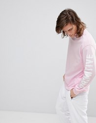 Primitive Skateboarding Long Sleeve T Shirt With Sleeve Print In Pink