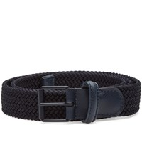 Andersons Anderson's Slim Woven Textile Belt Blue