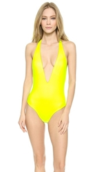 Peixoto Flamingo One Piece Neon Yellow