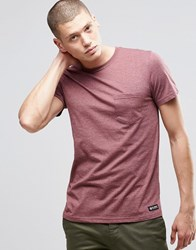 Element One Pocket T Shirt Oxblood Red Heather Red