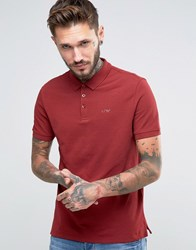 Armani Jeans Polo Shirt With Logo Regular Fit In Burgundy Burgundy Red