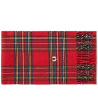 Fred Perry Royal Stewart Tartan Scarf Red