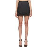 Fleur Du Mal Black Lace James Slip Skirt