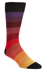 Paul Smith 'Rainbow' Stripe Socks Red