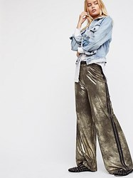 Free People Vegan Gold Track Pant By