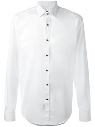 Lanvin Metallic Button Detail Shirt White