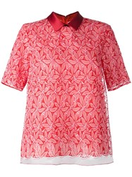 Giamba Floral Embroidered T Shirt