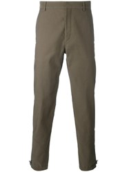 Lanvin Ankle Zip Trousers Brown