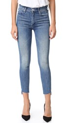 Mother The Stunner Zip Ankle Step Fray Jeans Good Girls Do