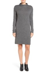 Halogen Funnel Neck Knit Sweater Dress Regular And Petite Gray