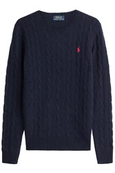 Polo Ralph Lauren Merino Wool Cable Knit Pullover Blue