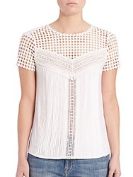 Diane Von Furstenberg Lauryn Lace Top White