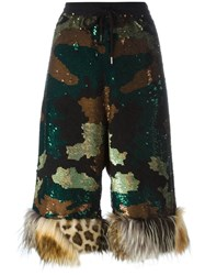 Ashish Sequinned Camouflage Cullotes Multicolour
