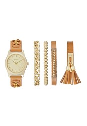 Aldo Roerwen Set Watch Cognac