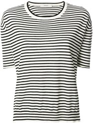 Humanoid Striped Crew Neck Top Cashmere Merino Black