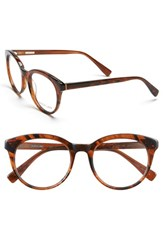 Women's Derek Lam 51Mm Optical Glasses Brown Stripes