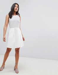 Deby Debo Pepita A Line Dress White