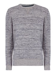 Criminal Men's Billy Marl Crew Sweater Grey