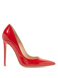 Gianvito Rossi 105 Patent Leather Pumps Red