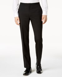 Dkny Modern Fit Black Tuxedo Suit Pants