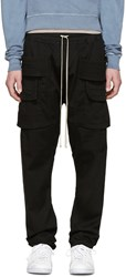 Rick Owens Black Creatch Cargo Trousers