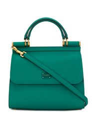 Dolce And Gabbana Sicily Tote Green