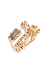 Alexis Bittar Women's Geo Crystal Ring Gold