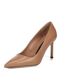 Via Spiga Nikole Leather Point Toe Pumps Beige