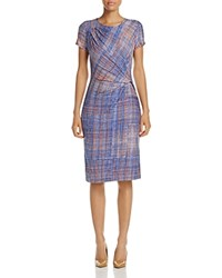 Nic Zoe And Checked Out Sheath Dress Multi