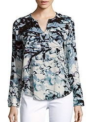 Calvin Klein Jeans Printed Long Sleeve Top White Wash