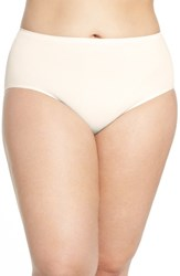 Nordstrom Plus Size Women's Lingerie Seamless Briefs Beige Soft