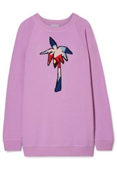 Tomas Maier Oversized Intarsia Cashmere Sweater Lavender