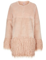 Shrimps Blush Faux Fur Porgie Coat Pink