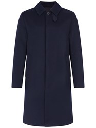 Mackintosh Navy Storm System Wool 3 4 Coat Gm 001F Blue