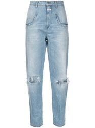 Closed Distressed Loose Fit Jeans Blue
