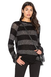 Pam And Gela Offset Stripe Sweater Black