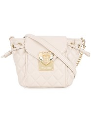 Love Moschino Quilted Crossbody Bag Nude And Neutrals