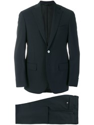 Dell'oglio Straight Fit Formal Suit Wool Mohair Blue