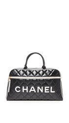 Wgaca What Goes Around Comes Around Chanel Bowler Previously Owned Black White