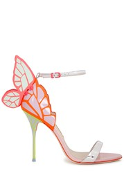 Sophia Webster Chiara Winged Leather Sandals Pink