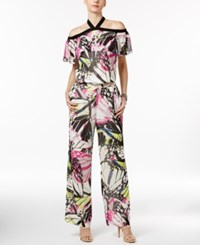 Inc International Concepts Petite Butterfly Print Halter Jumpsuit Only At Macy's