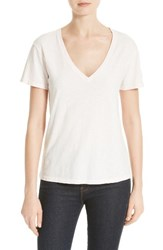 Theory Women's Dayne V Neck Tee Washed Pink