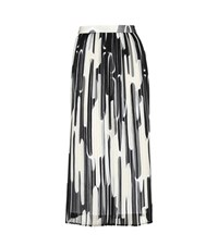 Kenzo Printed Pleated Midi Skirt Multicoloured