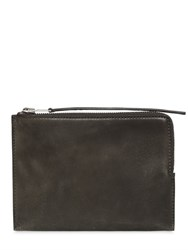 Rick Owens Vintage Leather Zipped Medium Pouch