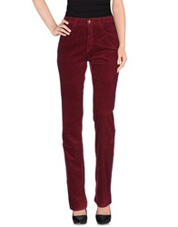 Jeans Les Copains Trousers Casual Trousers Women Maroon
