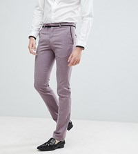 Noose And Monkey Tall Super Skinny Tuxedo Suit Pants Purple